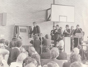 The official opening of Carlingford High School by the Governor of NSW, Sir Roden Cutler on 28th October, 1972.